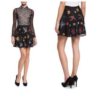 Alice + Olivia Skirt Blaise Embroidered Lace Mini